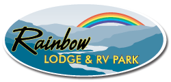 Rainbow Lodge Sticky Logo